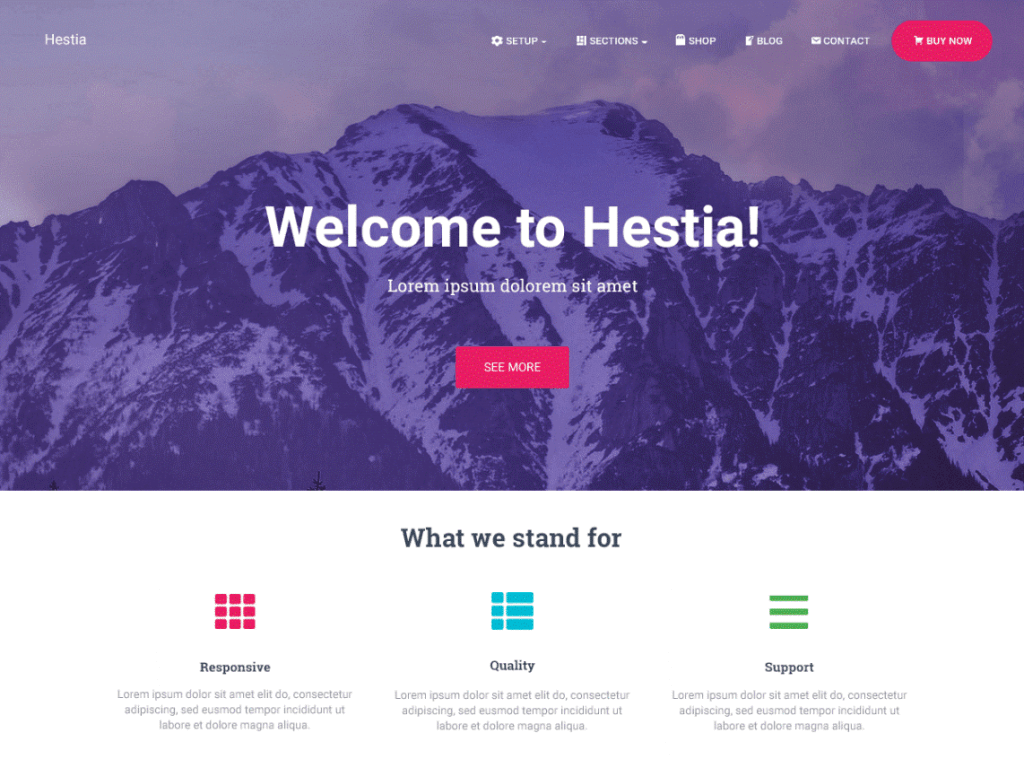 Hestia-WordPress-Theme