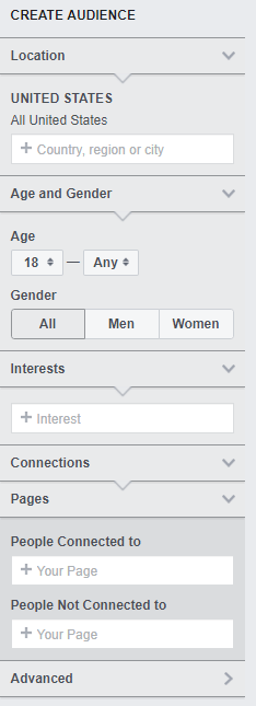A screenshot of age-related restrictions possible at the page level.