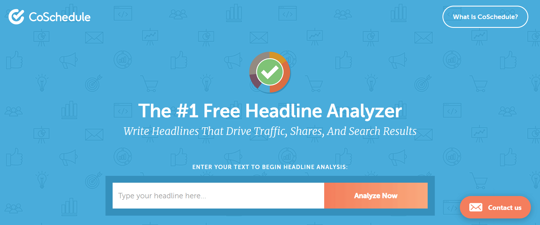 A screenshot of Coschedule's headline analyzer. Getting headlines analyzed is a content marketing hack that works.