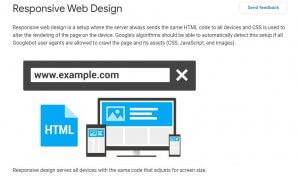Alt-text: A screenshot of Google for developers explaining what Responsive web design is.