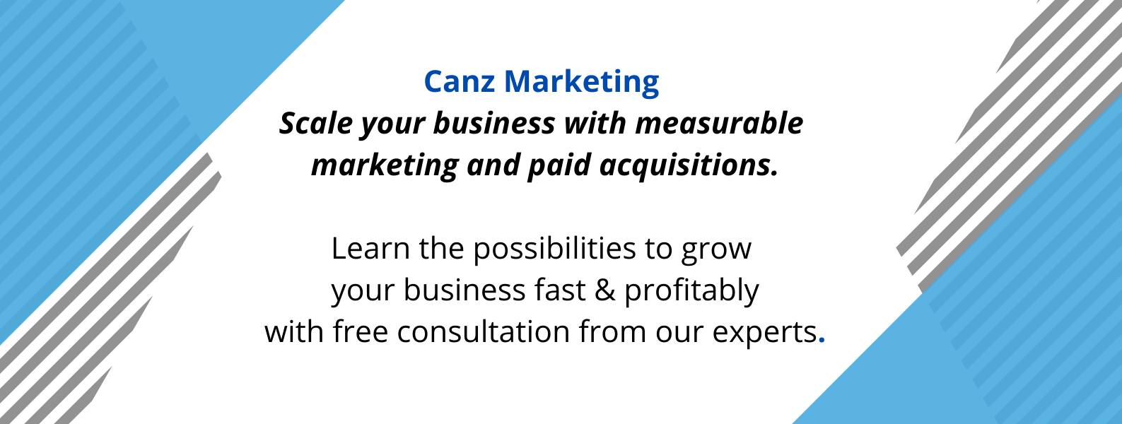 Unique selling proposition of Canz Marketing, a digital marketing agency.