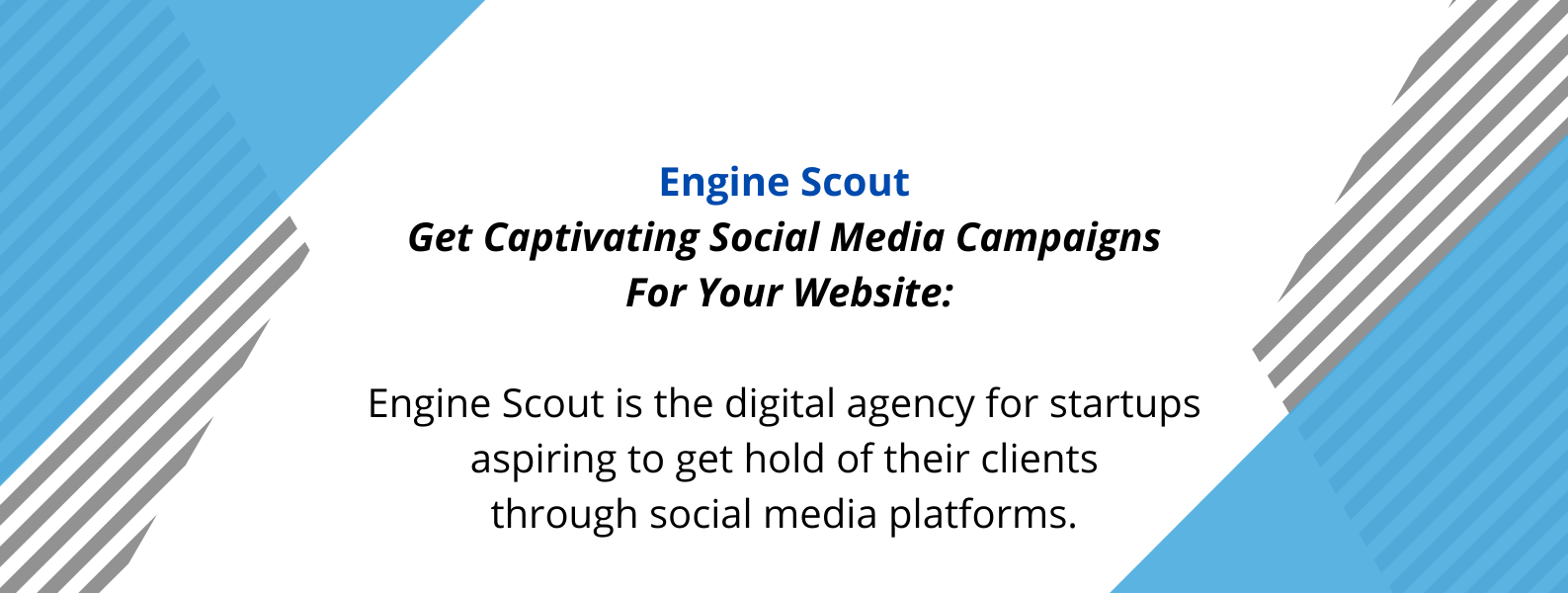 Unique selling proposition of Engine Scout - a digital marketing agency.