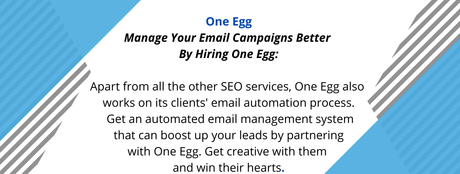 UNique selling proposition of one egg - a digital marketing agency.