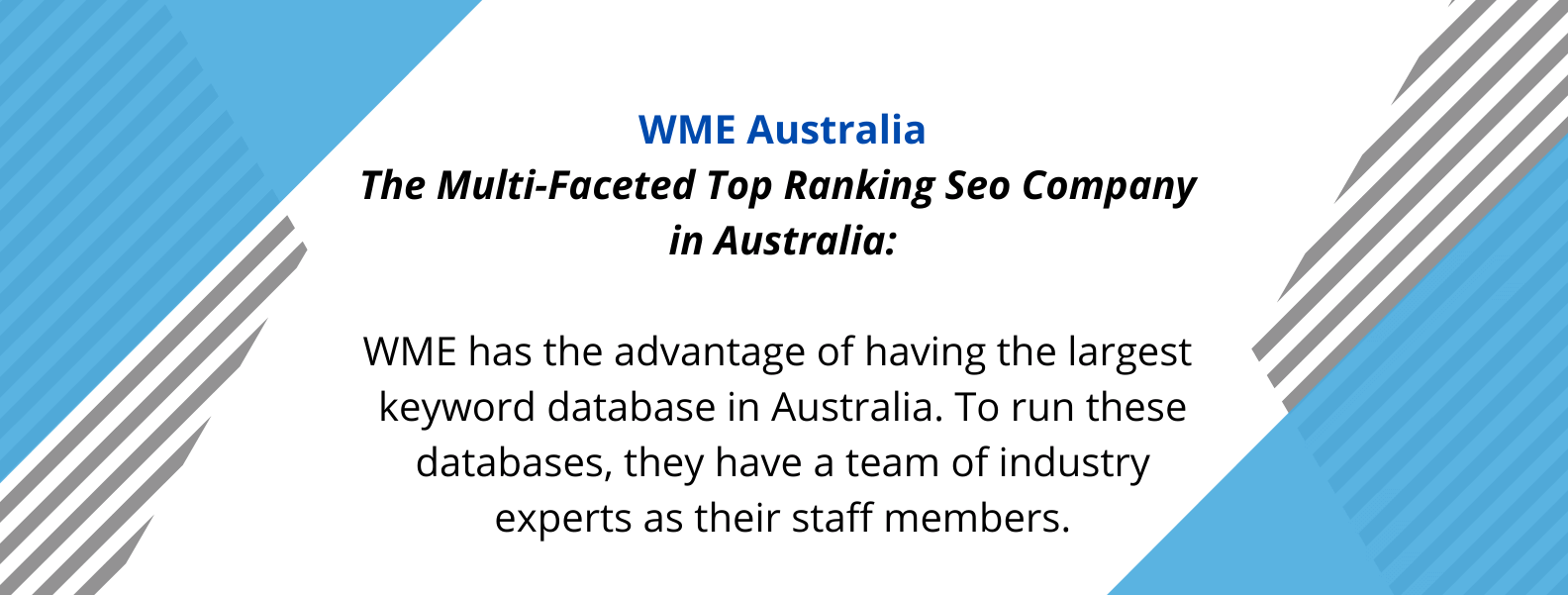 Unique Selling proposition of WME, one of the best SEO agencies of Australia.